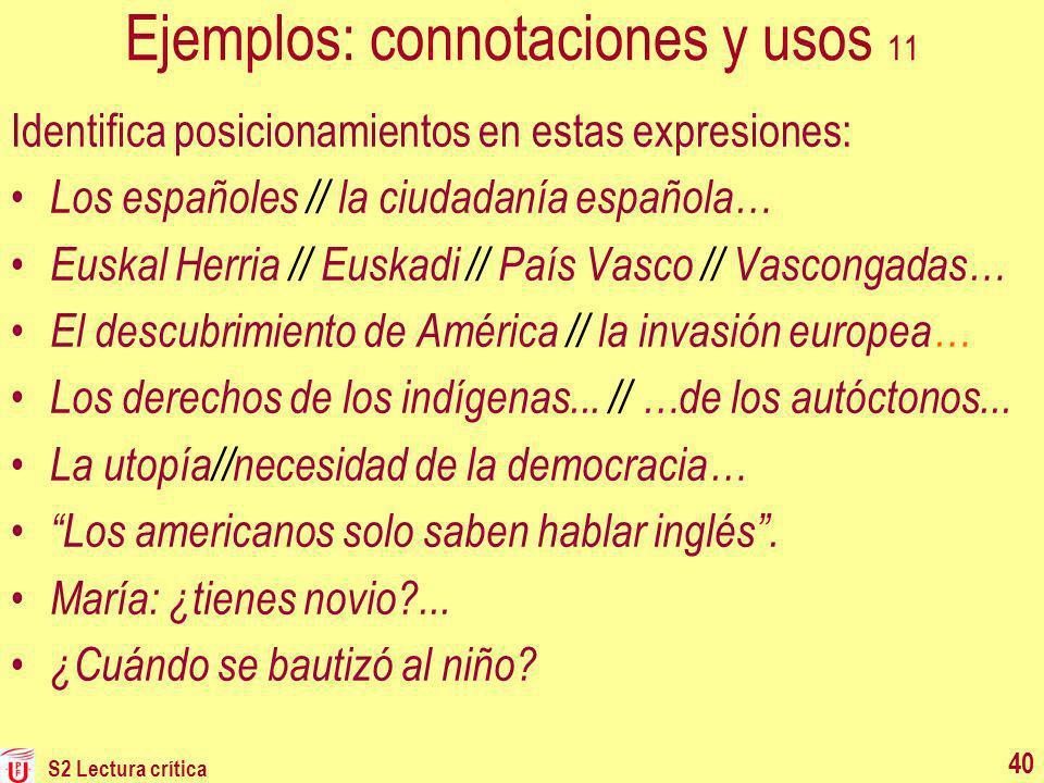 Ejemplos: connotaciones y usos 11