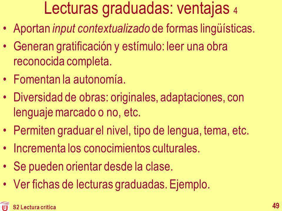 Lecturas graduadas: ventajas 4