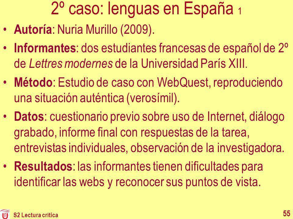 2º caso: lenguas en España 1