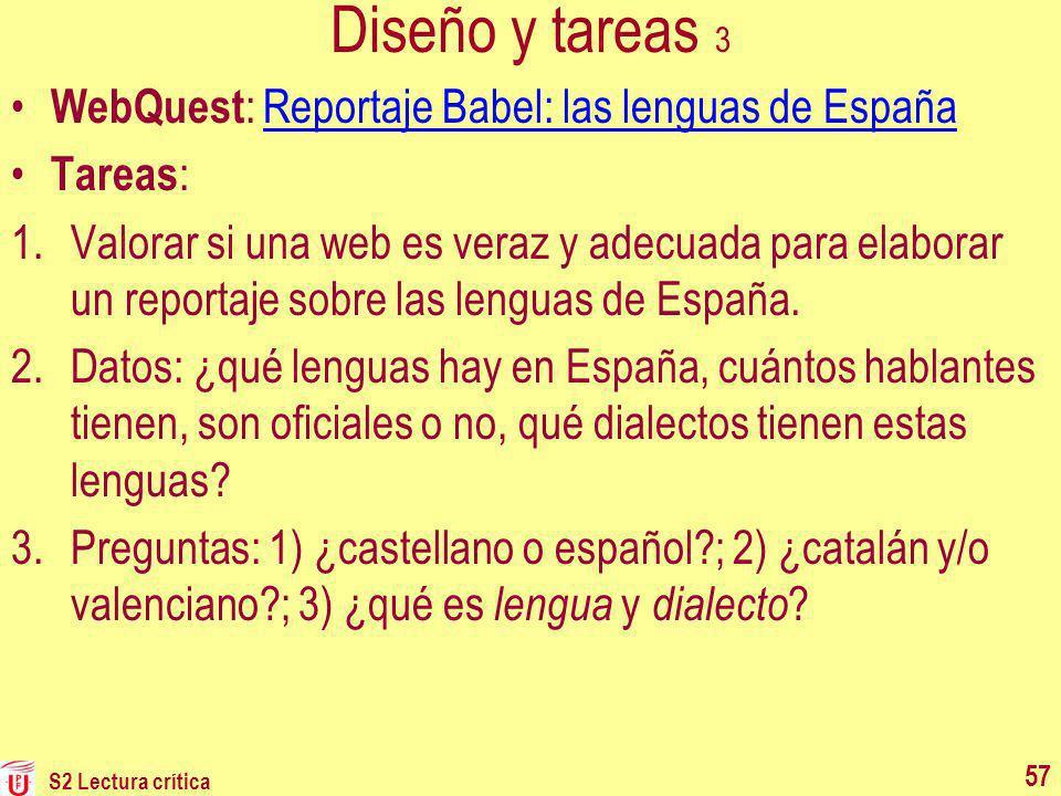 Diseño y tareas 3 WebQuest: Reportaje Babel: las lenguas de España