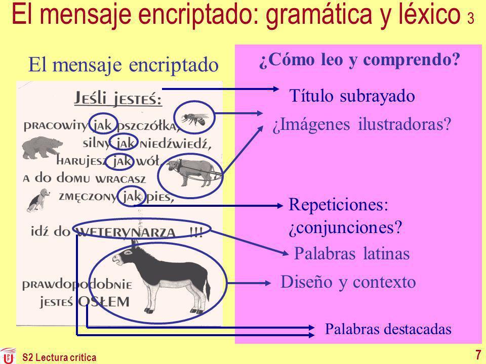El mensaje encriptado: gramática y léxico 3