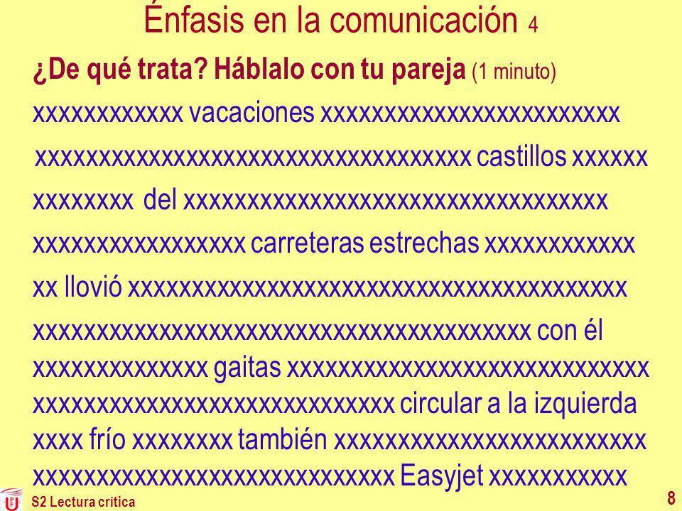 Énfasis en la comunicación 4