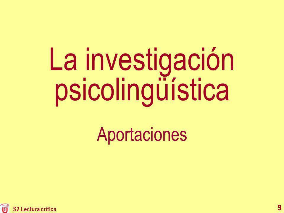 La investigación psicolingüística