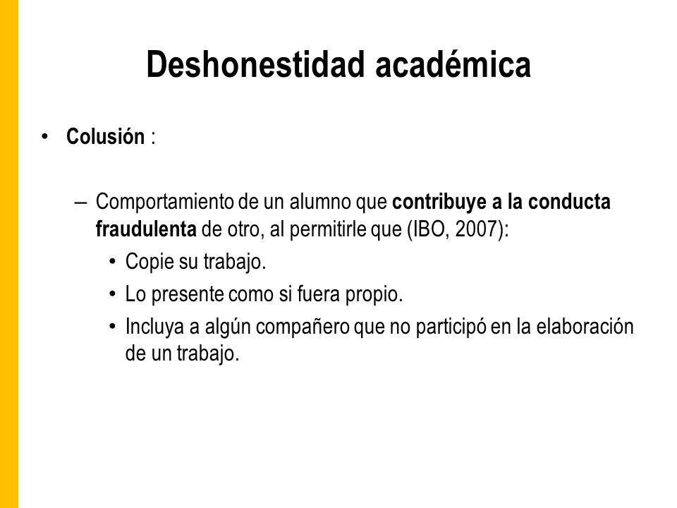 Deshonestidad académica