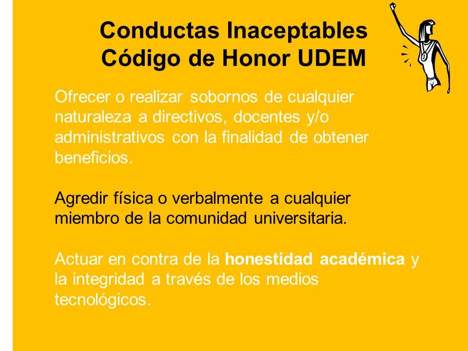 Conductas Inaceptables Código de Honor UDEM