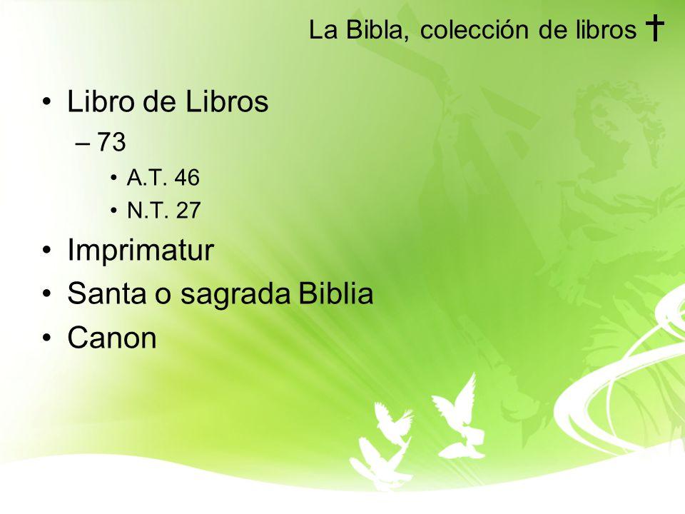 La Bibla, colección de libros