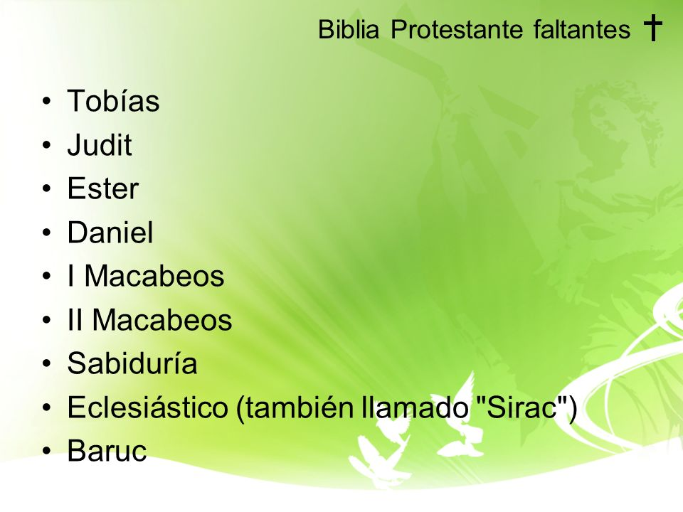 Biblia Protestante faltantes
