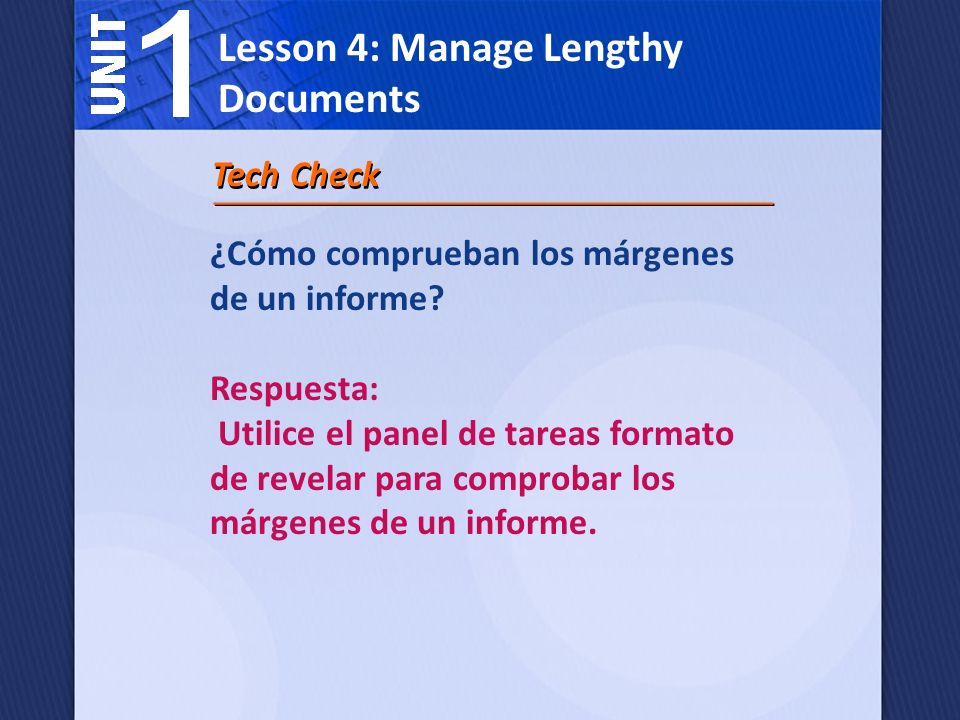 Lesson 4: Manage Lengthy Documents