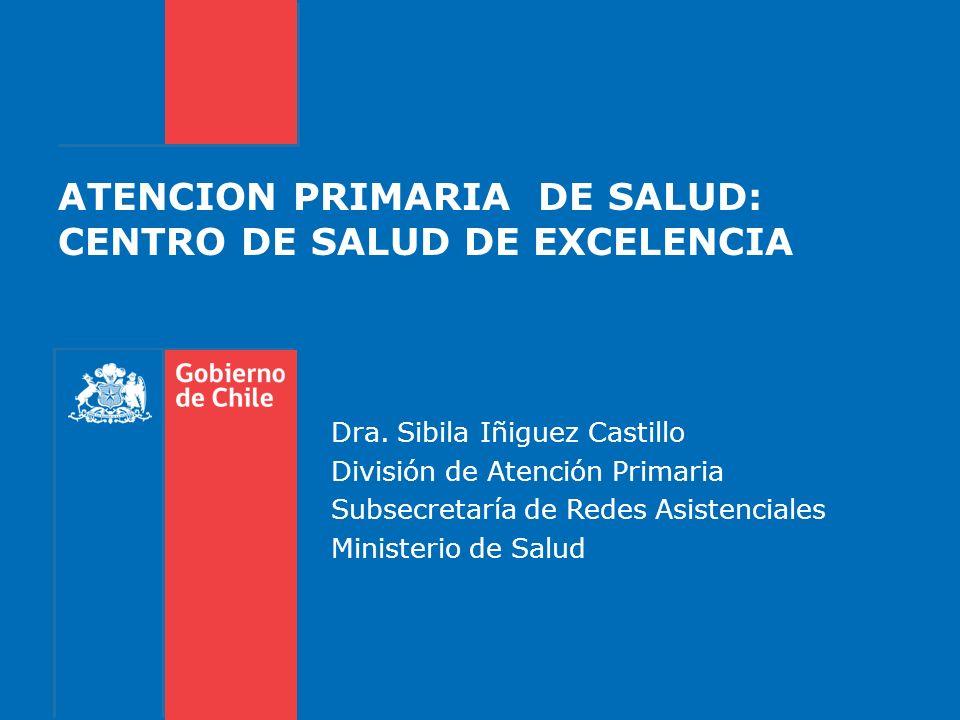ATENCION PRIMARIA DE SALUD: CENTRO DE SALUD DE EXCELENCIA