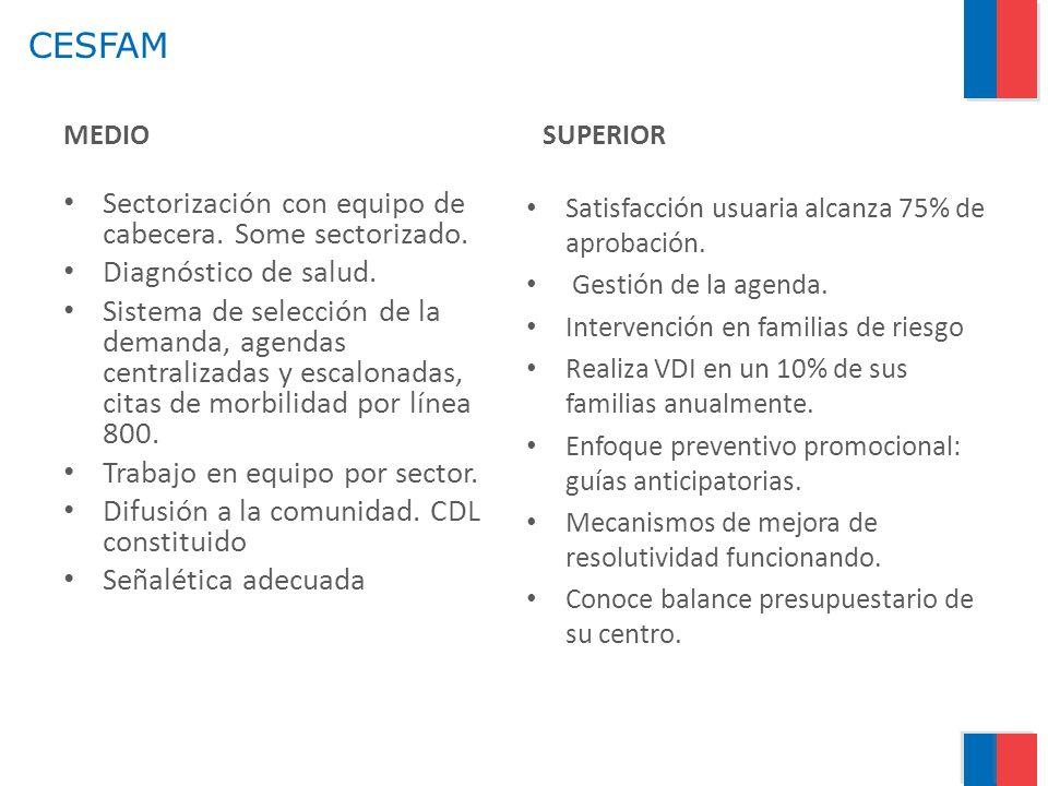 CESFAM Sectorización con equipo de cabecera. Some sectorizado.