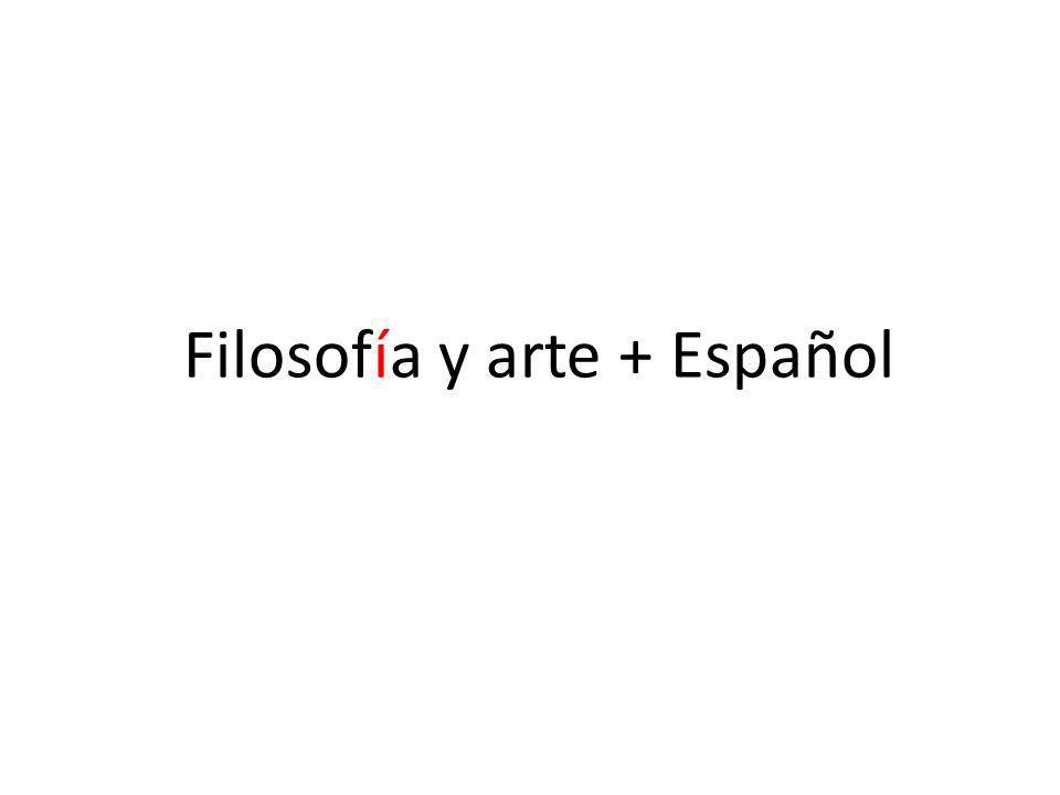 Filosofía y arte + Español