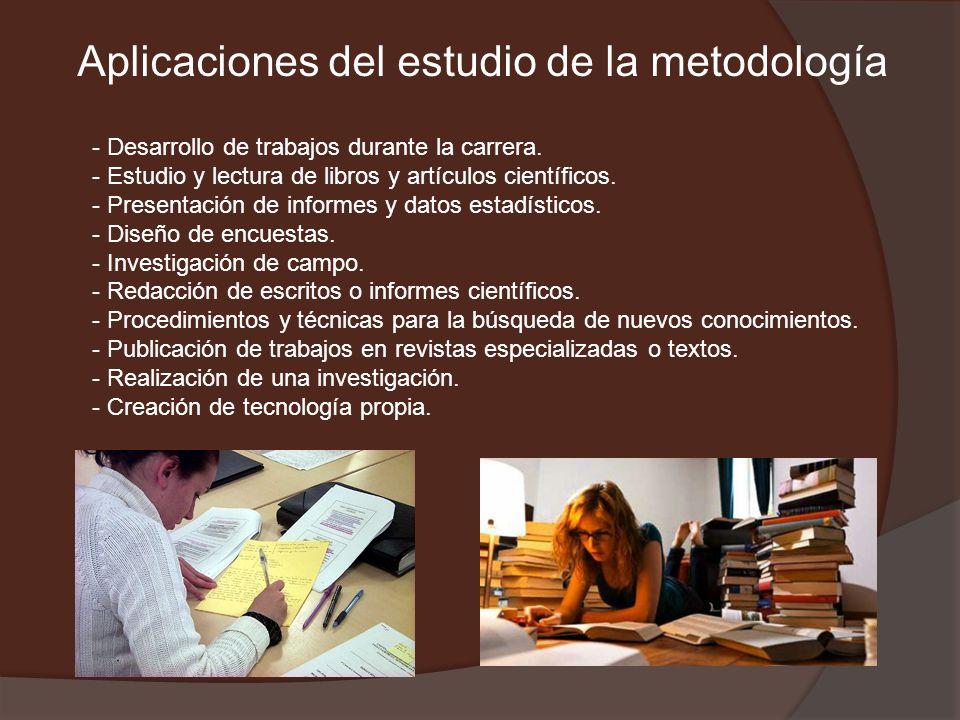 Aplicaciones del estudio de la metodología
