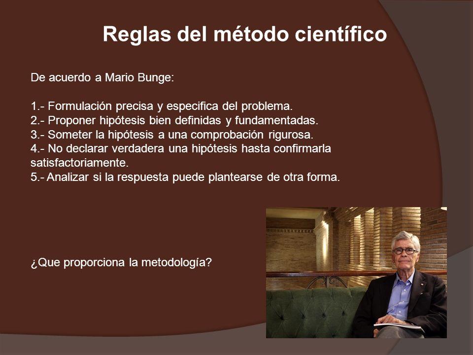 Reglas del método científico