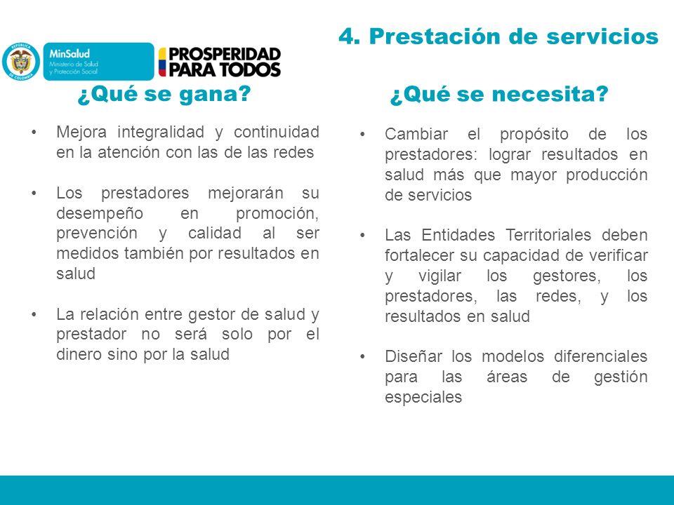 4. Prestación de servicios