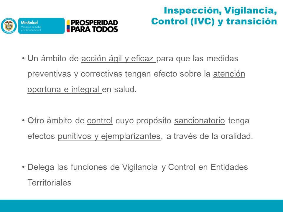 Inspección, Vigilancia, Control (IVC) y transición