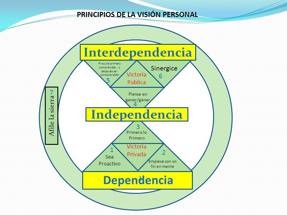 PRINCIPIOS DE LA VISIÓN PERSONAL
