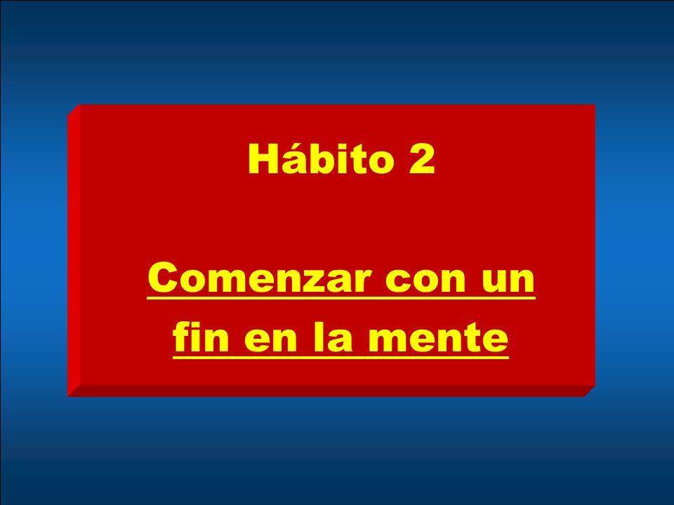 Hábito 2 Comenzar con un fin en la mente