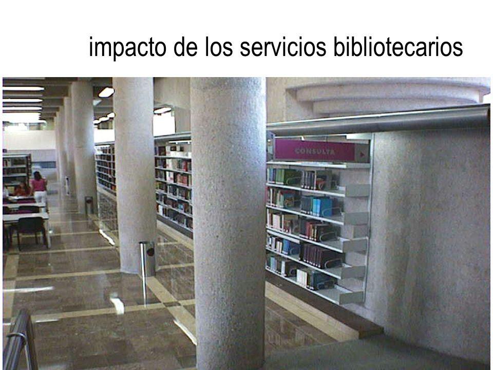 impacto de los servicios bibliotecarios