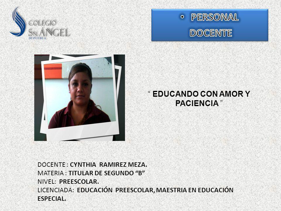 EDUCANDO CON AMOR Y PACIENCIA