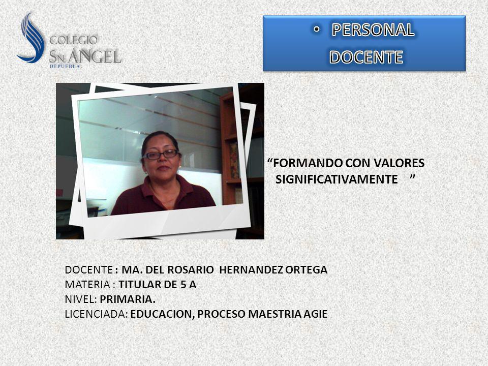 FORMANDO CON VALORES SIGNIFICATIVAMENTE