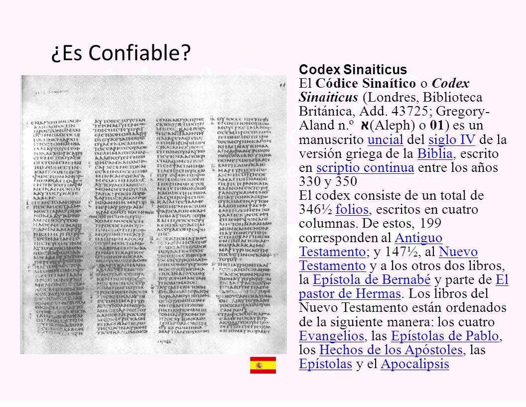 ¿Es Confiable Codex Sinaiticus.
