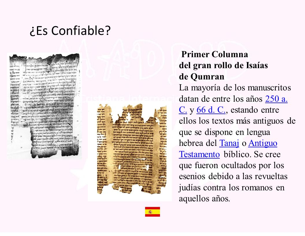 ¿Es Confiable Primer Columna del gran rollo de Isaías de Qumran