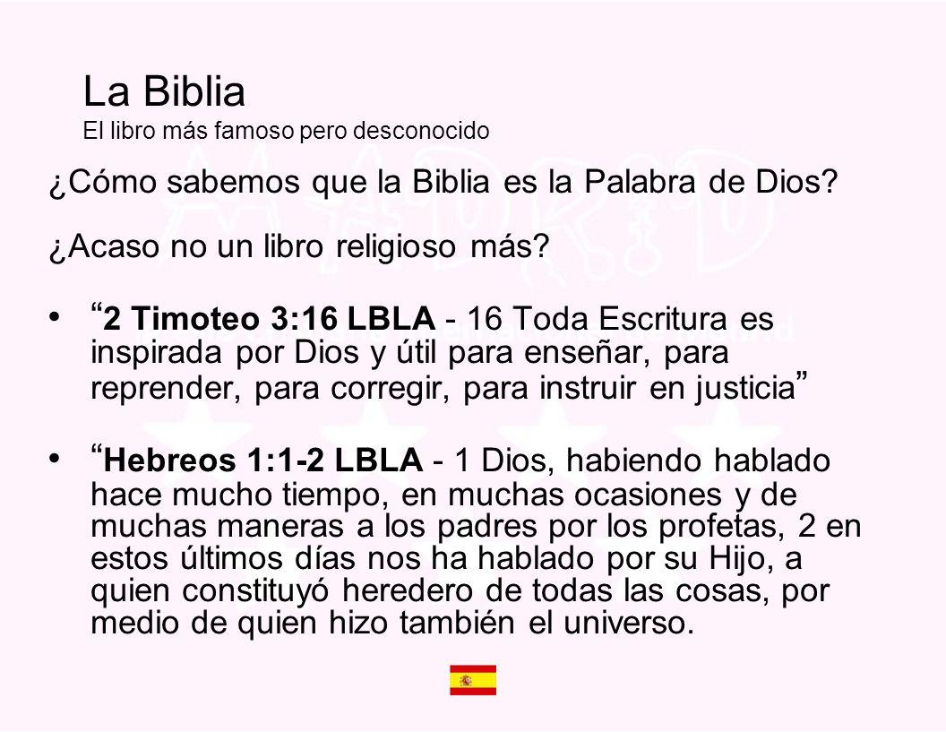 La Biblia El libro más famoso pero desconocido