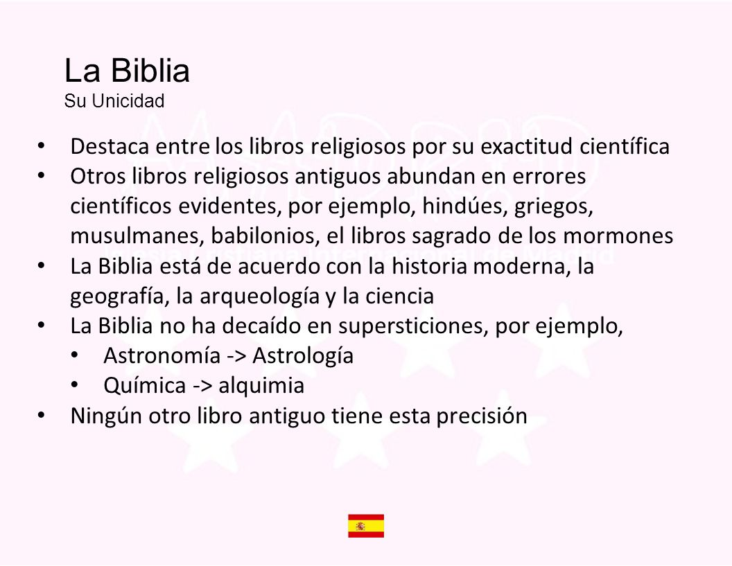 Is The Bible God s Word La Biblia Su Unicidad. Destaca entre los libros religiosos por su exactitud científica.