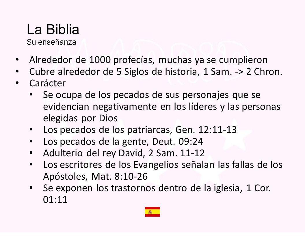 Is The Bible God s Word La Biblia Su enseñanza. Alrededor de 1000 profecías, muchas ya se cumplieron.