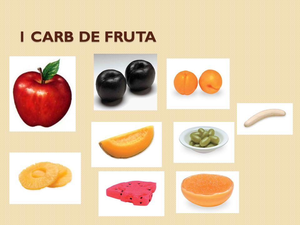1 carb de fruta