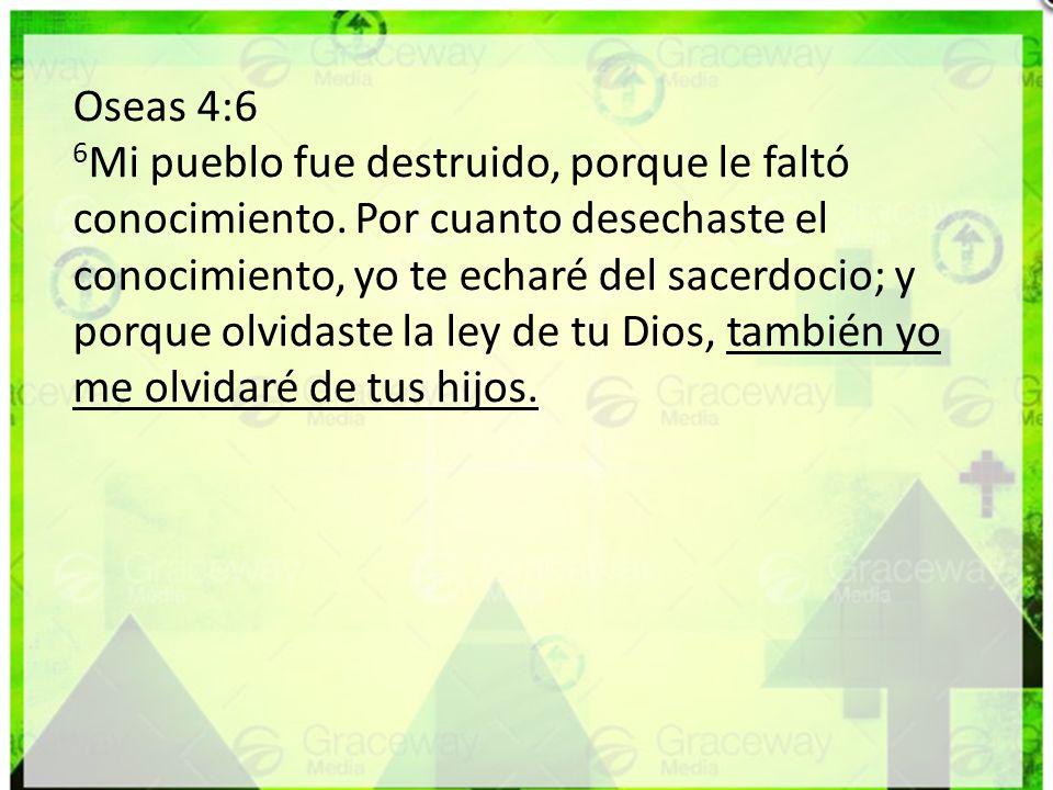 Oseas 4:6