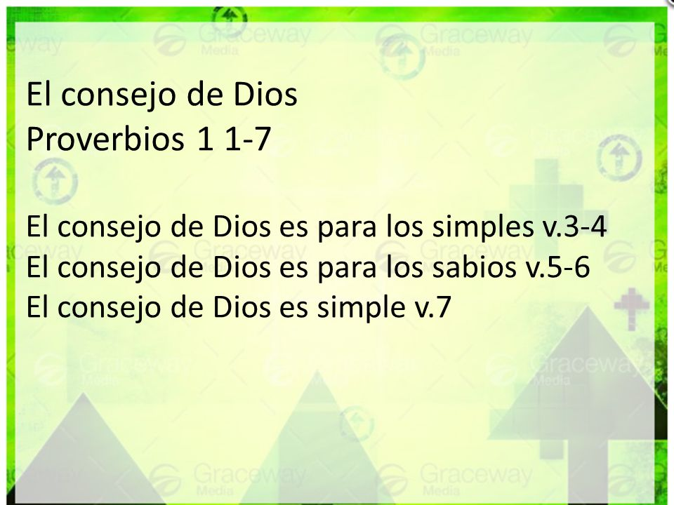 El consejo de Dios Proverbios 1 1-7