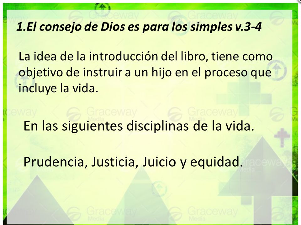 En las siguientes disciplinas de la vida.