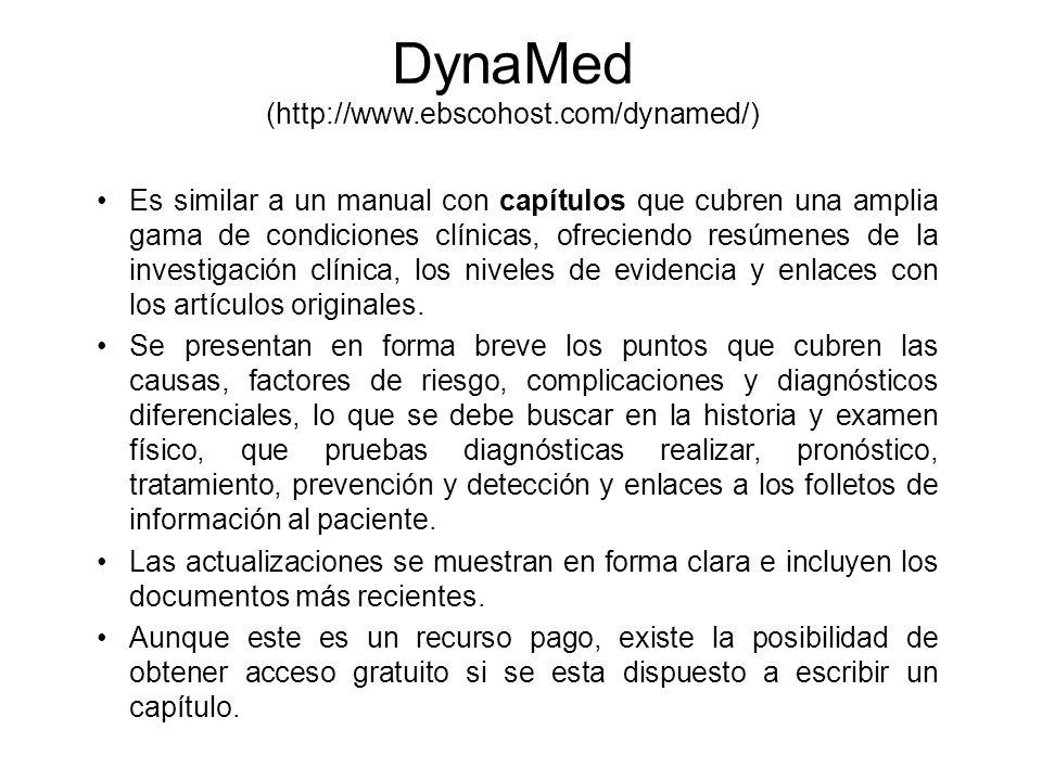 DynaMed (http://www.ebscohost.com/dynamed/)