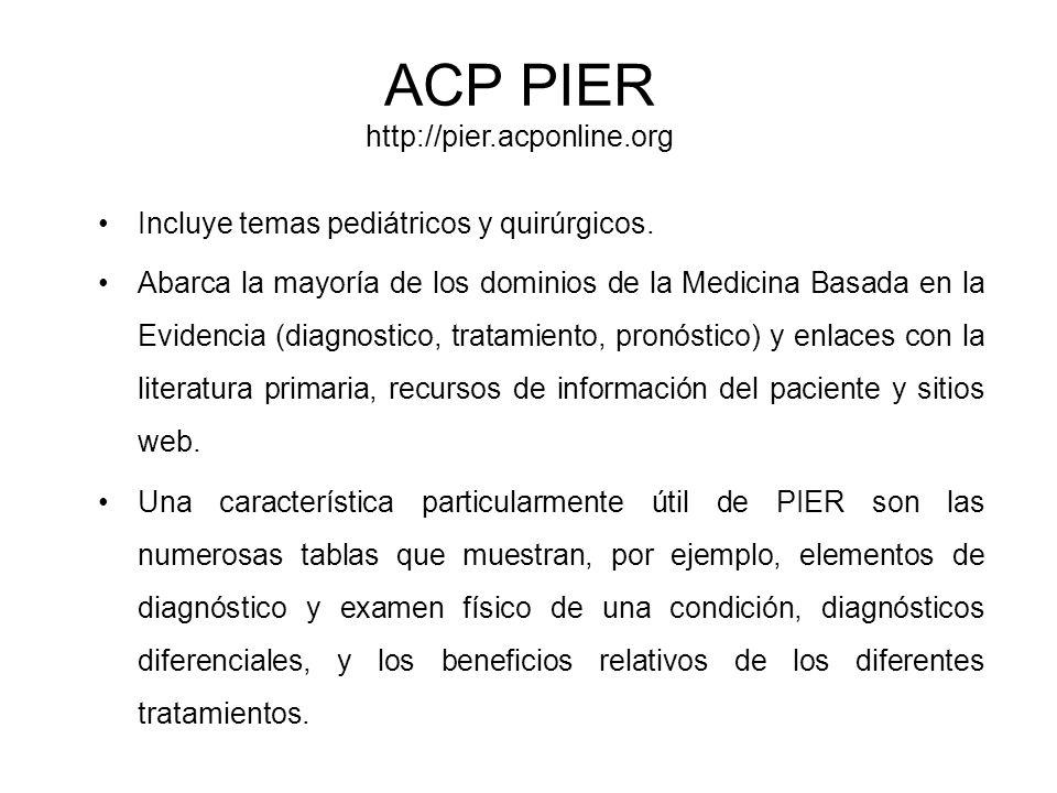 ACP PIER http://pier.acponline.org