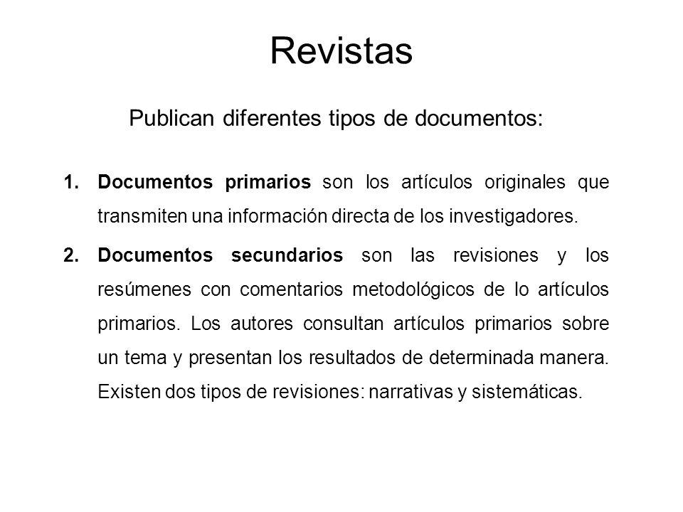 Publican diferentes tipos de documentos: