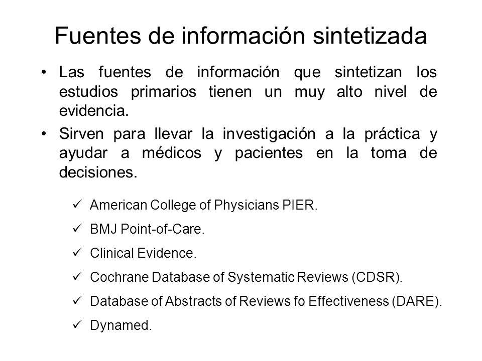 Fuentes de información sintetizada