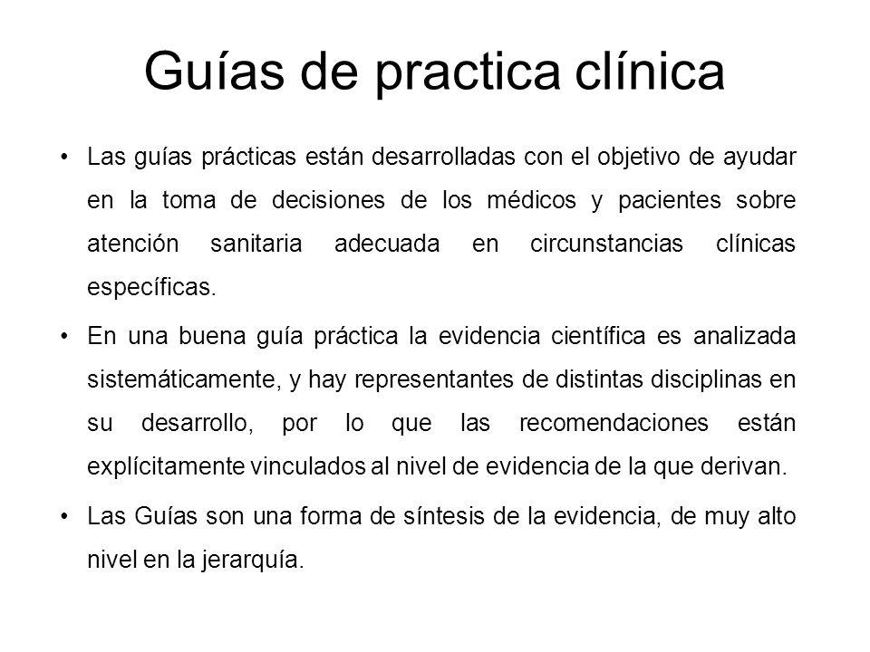 Guías de practica clínica