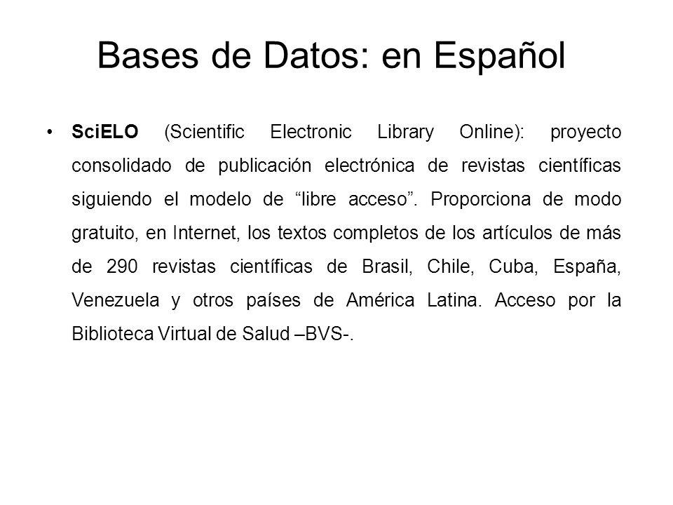 Bases de Datos: en Español