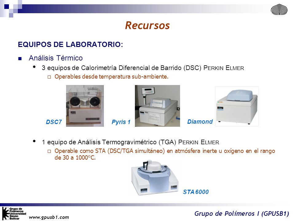 Recursos EQUIPOS DE LABORATORIO: Análisis Térmico