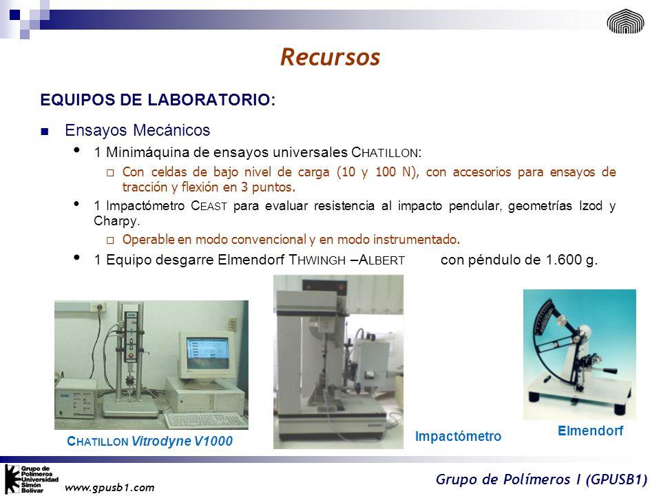 Recursos EQUIPOS DE LABORATORIO: Ensayos Mecánicos