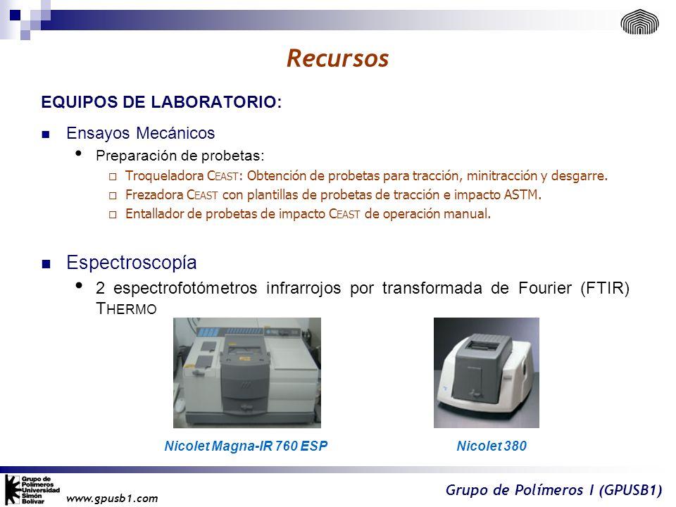 Recursos Espectroscopía EQUIPOS DE LABORATORIO: Ensayos Mecánicos