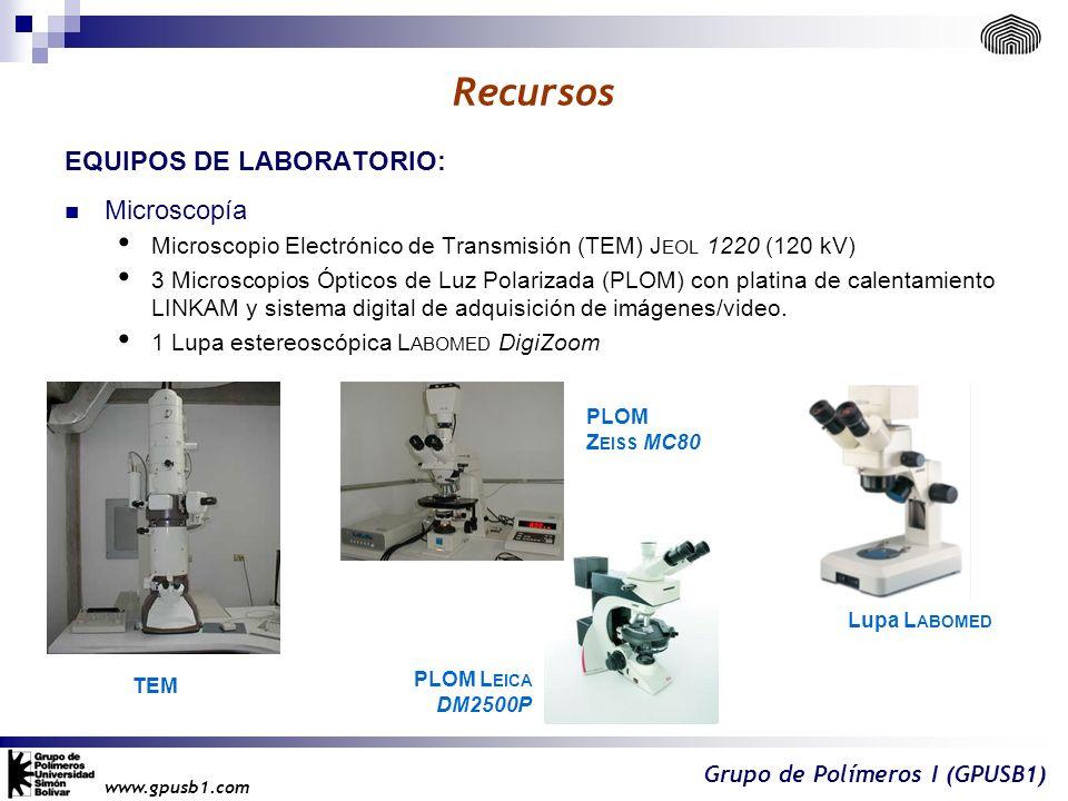 Recursos EQUIPOS DE LABORATORIO: Microscopía
