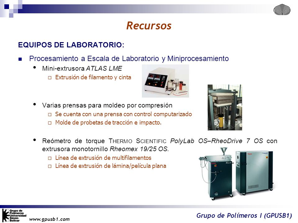 Recursos EQUIPOS DE LABORATORIO: