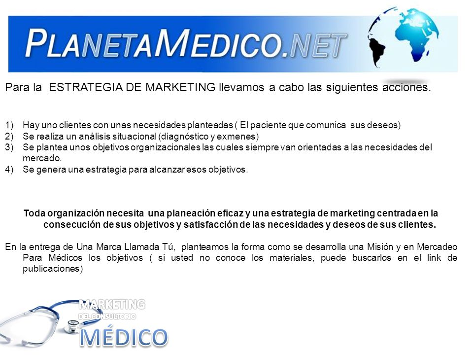 MÉDICO MARKETING DEL CONSULTORIO