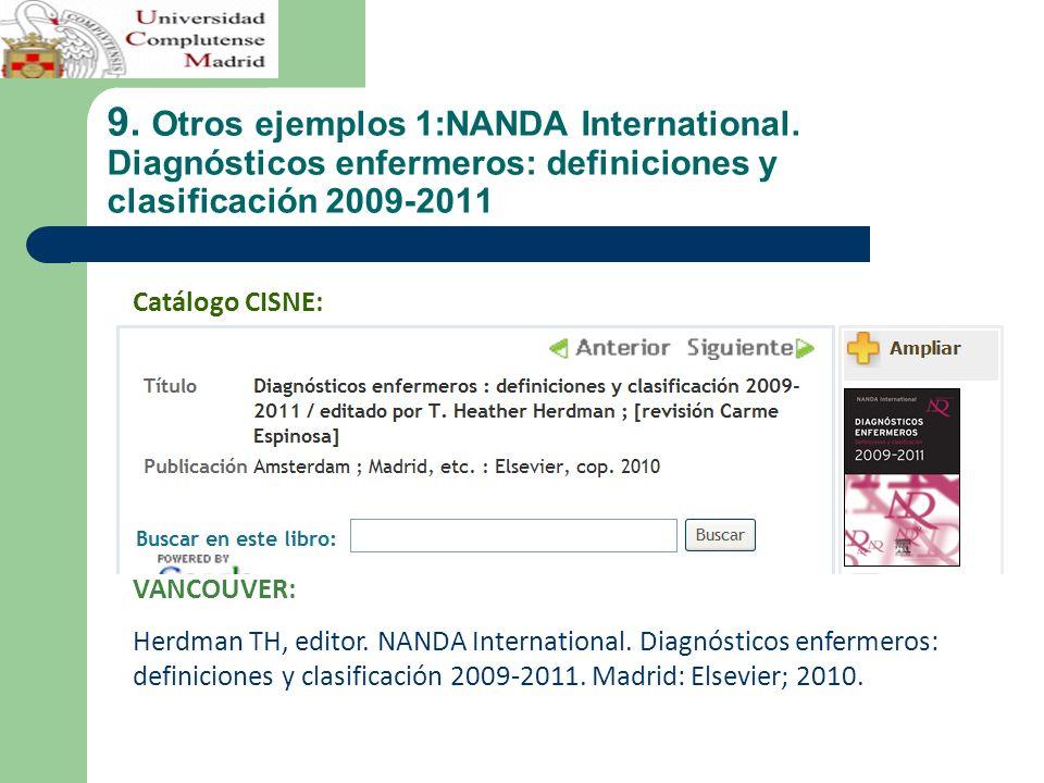 9. Otros ejemplos 1:NANDA International