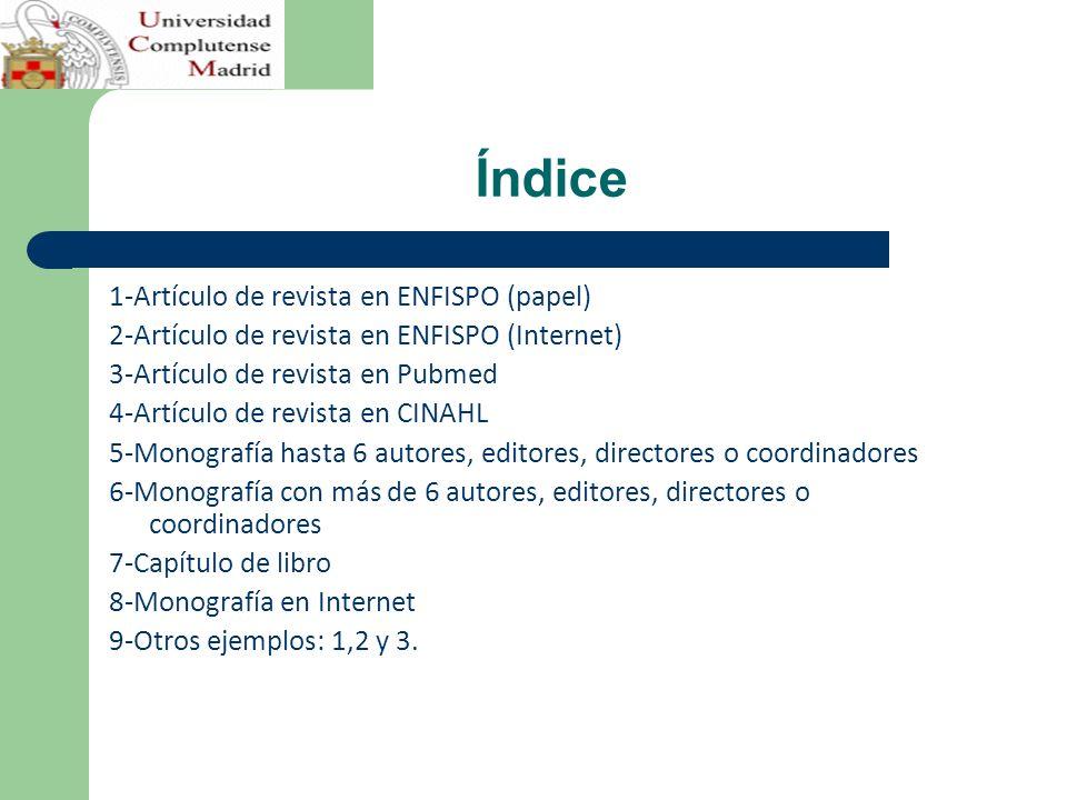 Índice 1-Artículo de revista en ENFISPO (papel)
