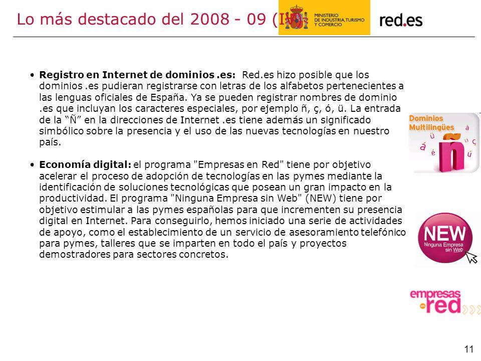 Lo más destacado del 2008 - 09 (IV)