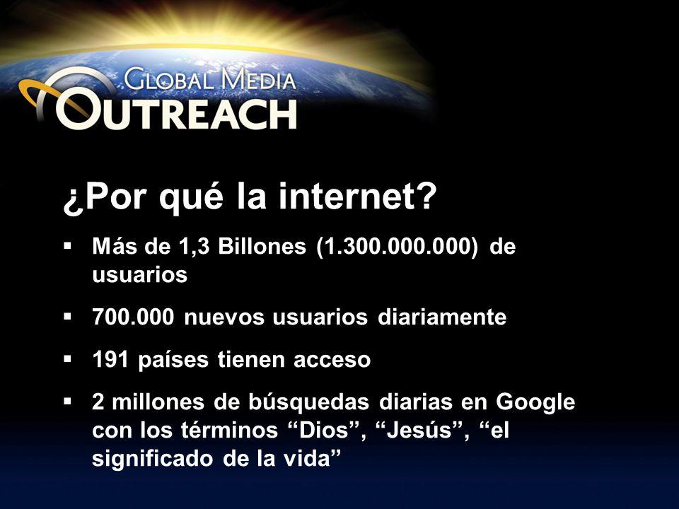 ¿Por qué la internet Más de 1,3 Billones (1.300.000.000) de usuarios