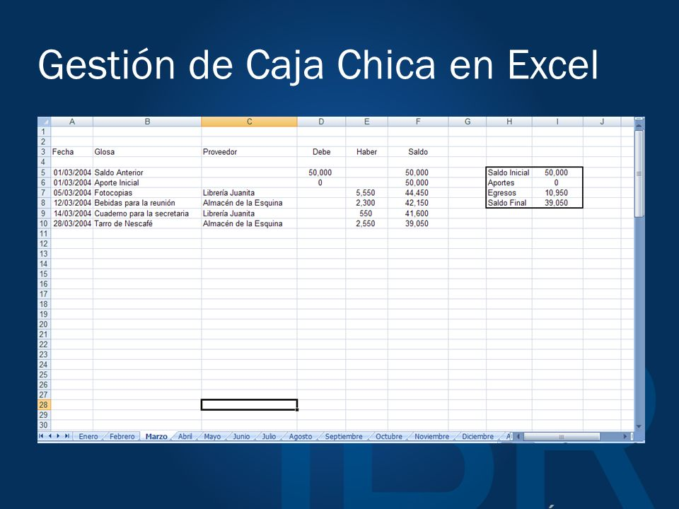 Gestión de Caja Chica en Excel